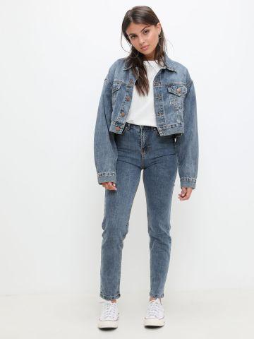 ג'ינס Slim בגזרה גבוהה של KIMOR X TERMINAL X