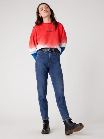 ג'ינס בגזרה גבוהה Mom של WRANGLER