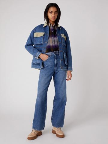 ג'ינס בגזרה גבוהה Relaxed Mom של WRANGLER