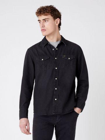 חולצת ג'ינס מכופתרת עם כיסים של WRANGLER