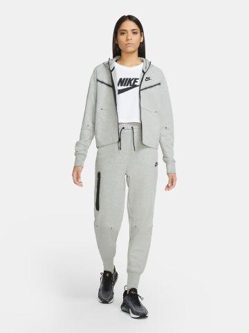סווטשירט קפוצ'ון עם לוגו Plus Size / Tech Fleece של NIKE