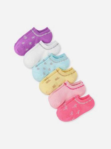מארז 6 זוגות גרביים בהדפסים שונים / בייבי בנות של THE CHILDREN'S PLACE