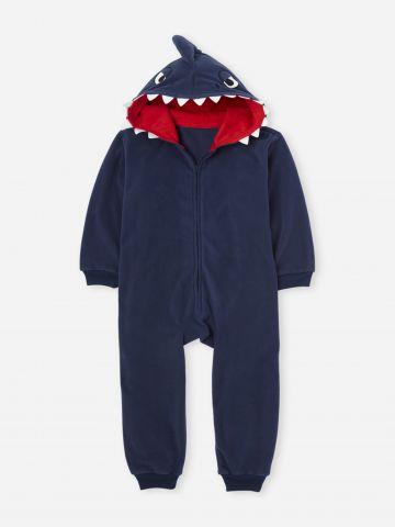 אוברול וואנזי בדוגמת כריש / בנים של THE CHILDREN'S PLACE