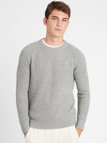 סוודר וופל של BANANA REPUBLIC