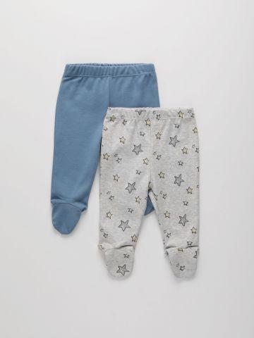 מארז 2 מכנסי טרנינג עם רגליות / 0-18M של THE CHILDREN'S PLACE