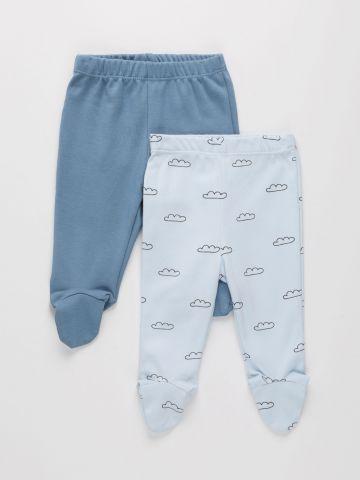 מארז 2 מכנסי טרנינג עם רגליות / 0M-18M של THE CHILDREN'S PLACE