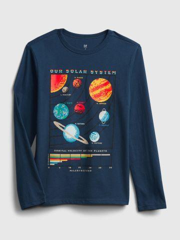 טי שירט עם הדפס מערכת השמש / בנים של GAP