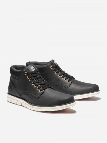 נעלי עור עם לוגו / גברים של TIMBERLAND