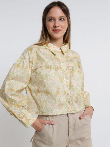 חולצה מכופתרת בהדפס פרחים של GLAMOROUS