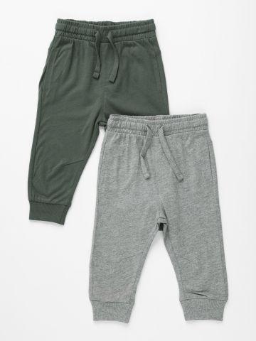 מארז 2 מכנסי טרנינג דקים / 6M-3Y של FOX