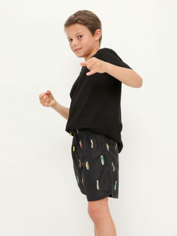 מכנסי גלישה בהדפס גלשנים של FOX