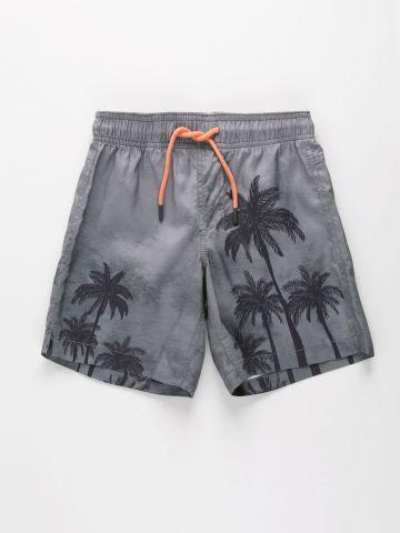 מכנסי בגד ים בהדפס עצים / בנים של FOX