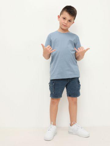 מכנסיים קצרים דמוי ג'ינס של FOX