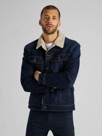 ג'קט ג'ינס בשילוב דמוי צמר של LEE