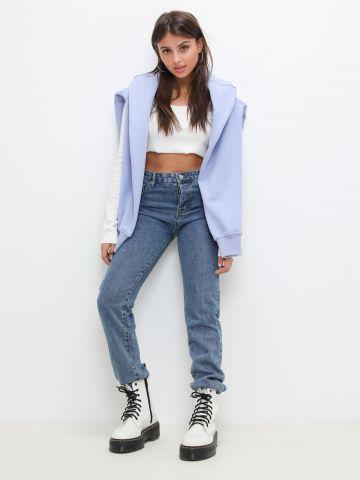 ג'ינס גבוה בגזרה ישרה של KIMOR X TERMINAL X