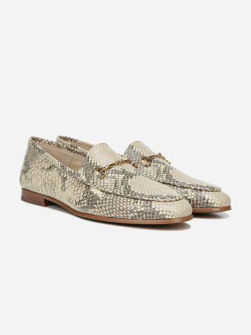 נעלי מוקסין מעור בדוגמת נחש / נשים של SAM EDELMAN
