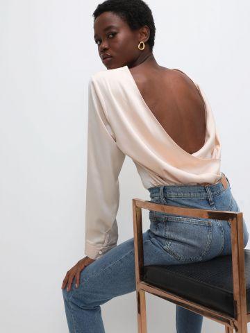 חולצת סאטן עם גב פתוח של TERMINAL X