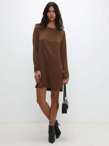 שמלת מיני סאטן כריות כתפיים של TERMINAL X