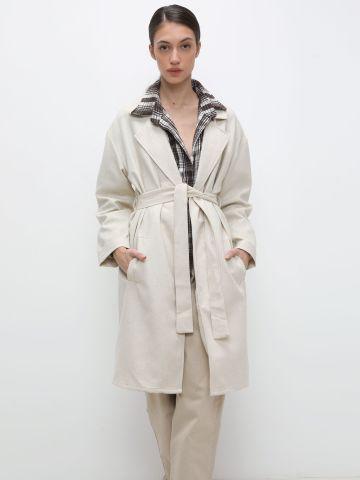מעיל טרנץ' עם חגורה במותן של TERMINAL X
