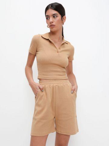 מכנסי טרנינג קצרים של TERMINAL X
