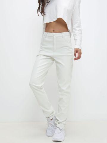 מכנסיים דמוי עור בגזרה רחבה של TERMINAL X