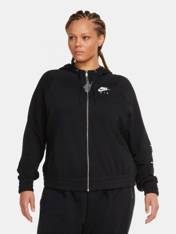 סווטשירט קפוצ'ון עם לוגו  Plus Size / Fleece של NIKE