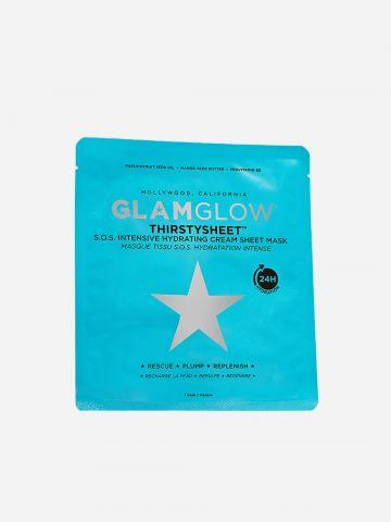 מסכת בד קרמית המעניקה לחות ל-24 שעות Thirstysheet של GLAMGLOW
