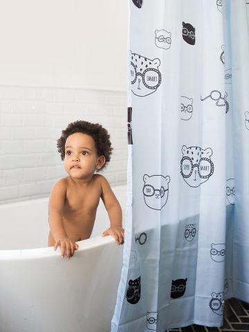 וילון לאמבטיה בהדפס של MINENE