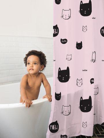 וילון לאמבטיה בהדפס חתולים של MINENE