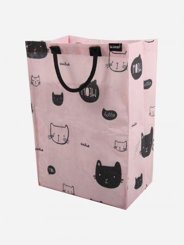 סל כביסה בהדפס חתולים של MINENE