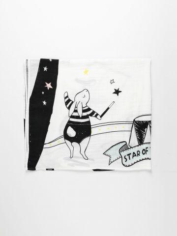 שמיכה חודשית בהדפס קרקס / בייבי של MINENE