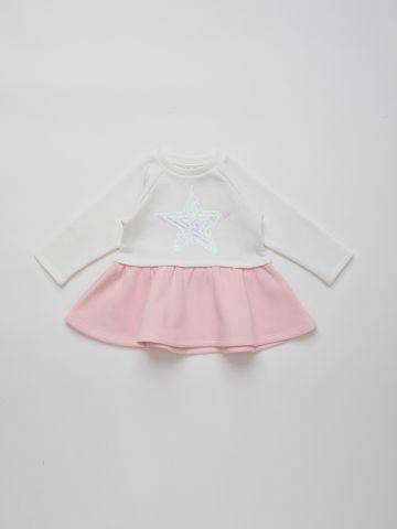 שמלה מתרחבת עם פאייטים בדוגמת כוכב מנצנץ / 6M-5Y של THE CHILDREN'S PLACE