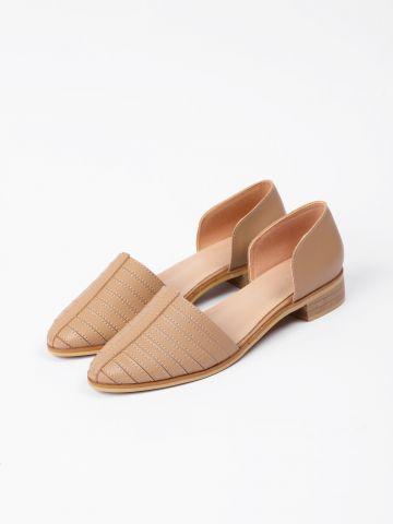 נעליים עור בדוגמת פסים / נשים של YANGA