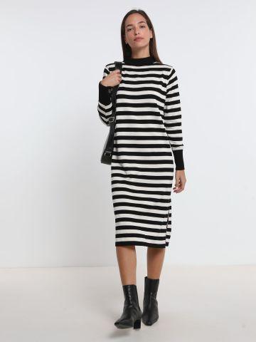 שמלת סריג מידי בהדפס פסים של YANGA