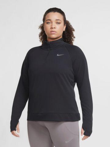 חולצת ריצה עם צווארון גבוה / Plus Size של NIKE