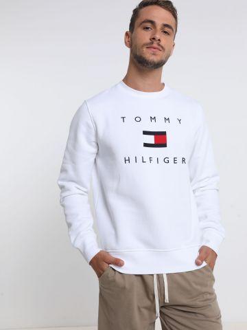 סווטשירט עם רקמת לוגו של TOMMY HILFIGER