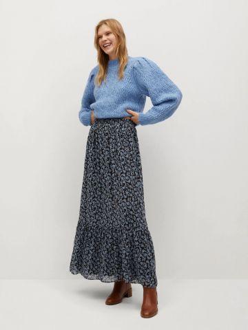 חצאית מקסי פפלום בהדפס פרחים של MANGO