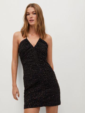 שמלת מיני כיווצים מנצנצת של MANGO
