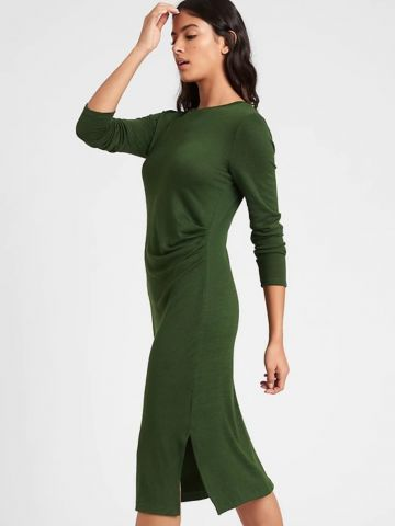 שמלת מידי עם שסע של BANANA REPUBLIC