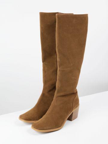 מגפיים גבוהים דמוי זמש / נשים של TERMINAL X