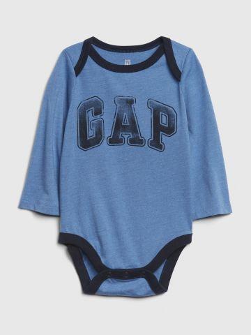 בגד גוף לוגו עם שרוולים ארוכים / 0-24M של GAP