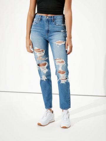 ג'ינס ארוך עם קרעים Boyfriend של AMERICAN EAGLE