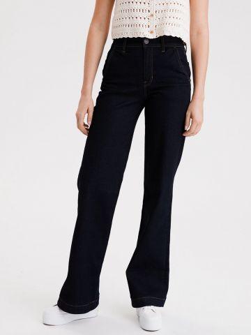 ג'ינס ארוך בגזרה רחבה של AMERICAN EAGLE