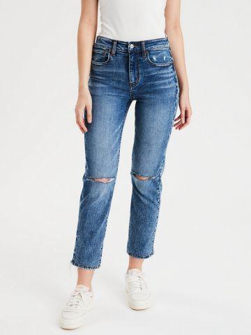 ג'ינס Slim ארוך עם עיטורי קרעים של AMERICAN EAGLE