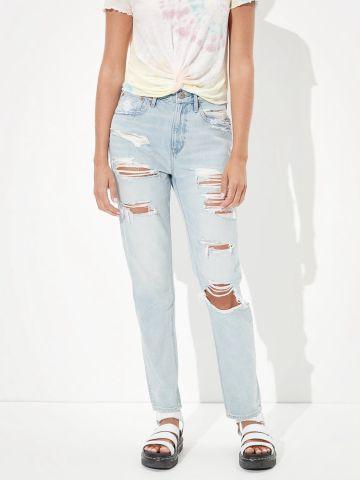 ג'ינס ארוך בשטיפה בהירה Boyfriend של AMERICAN EAGLE