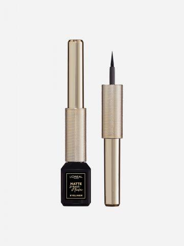 איילינר שחור מאט ליינר עמיד גוון 01 Ink של L'OREAL PARIS
