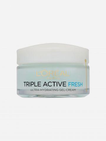 קרם לחות אינטנסיבית עור רגיל עד מעורב Triple Active Fresh Gel של L'OREAL PARIS