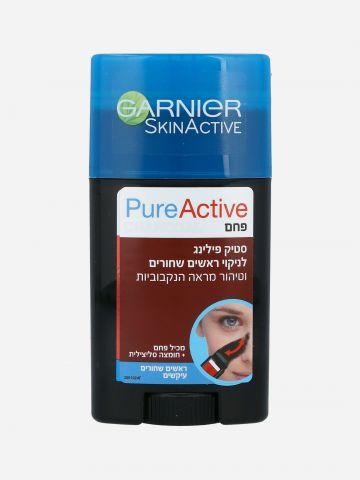פיור אקטיב סטיק פחם לניקוי ראשים שחורים Pure Active Charcoal Stick של GARNIER