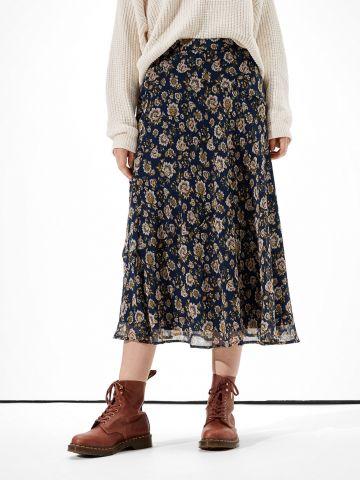 חצאית מידי בהדפס פרחים של AMERICAN EAGLE