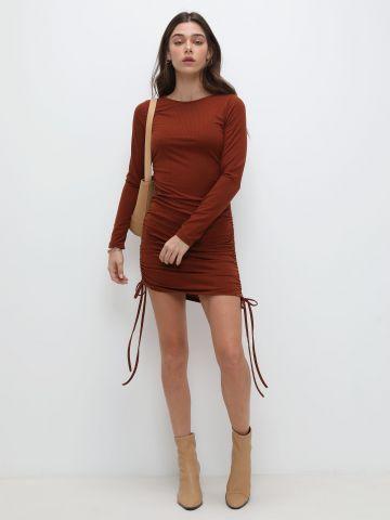 שמלת מיני ריב עם כיווצים של TERMINAL X